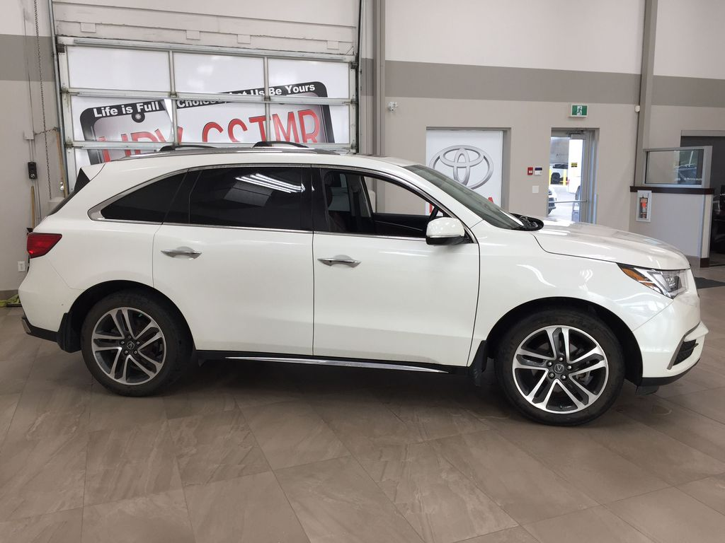 White[White Diamond Pearl] 2017 Acura MDX SH-AWD w/Navigation Right Side Photo in Sherwood Park AB
