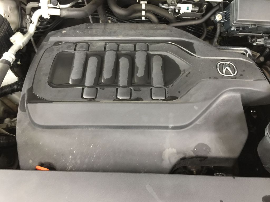 White[White Diamond Pearl] 2017 Acura MDX SH-AWD w/Navigation Engine Compartment Photo in Sherwood Park AB