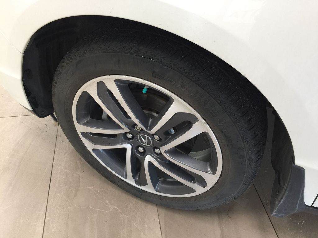 White[White Diamond Pearl] 2017 Acura MDX SH-AWD w/Navigation Left Front Rim and Tire Photo in Sherwood Park AB