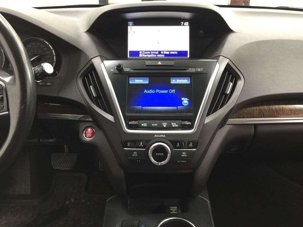White[White Diamond Pearl] 2017 Acura MDX SH-AWD w/Navigation Central Dash Options Photo in Sherwood Park AB