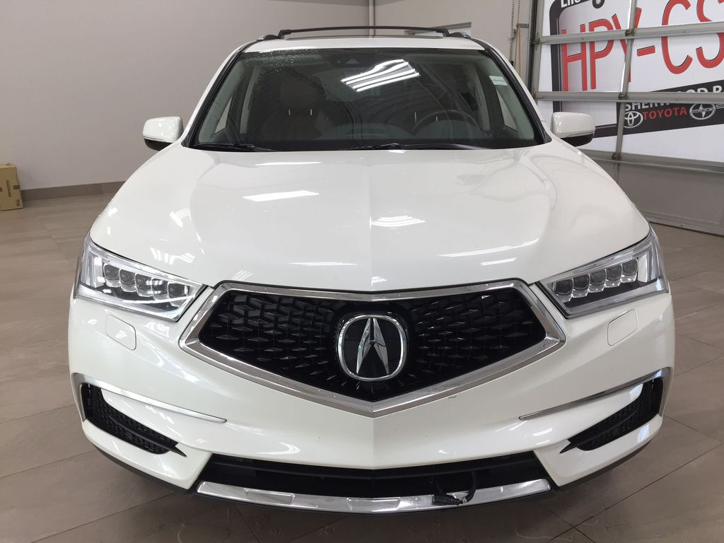 White[White Diamond Pearl] 2017 Acura MDX SH-AWD w/Navigation Front Vehicle Photo in Sherwood Park AB