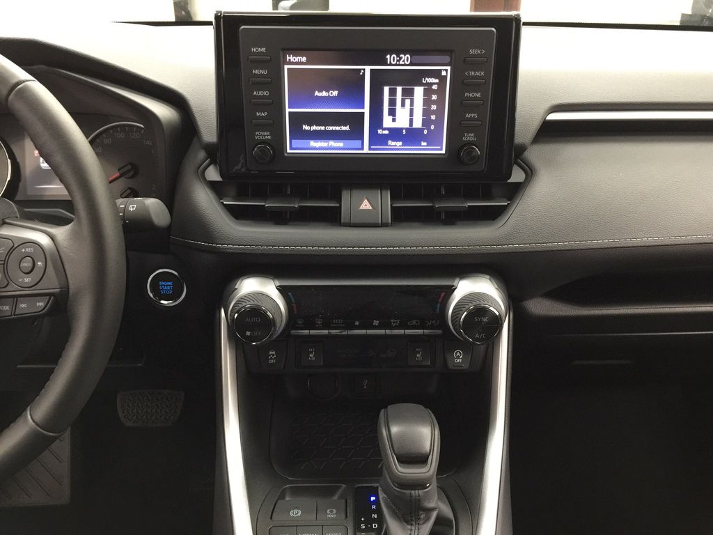 Red[Ruby Flare Pearl] 2021 Toyota RAV4 XLE AWD Central Dash Options Photo in Sherwood Park AB