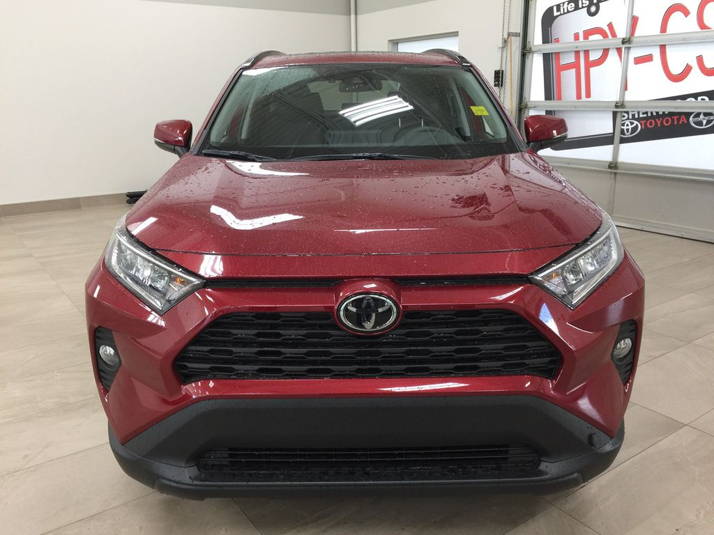 Red[Ruby Flare Pearl] 2021 Toyota RAV4 XLE AWD Front Vehicle Photo in Sherwood Park AB
