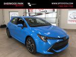 Blue[Blue Flame w/Black Roof] 2021 Toyota Corolla SE Upgrade Hatchback Primary Photo in Sherwood Park AB