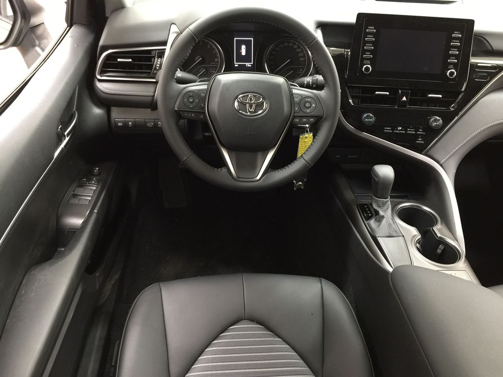 Silver[Celestial Silver Metallic] 2021 Toyota Camry SE FWD Left Front Seat Photo in Sherwood Park AB