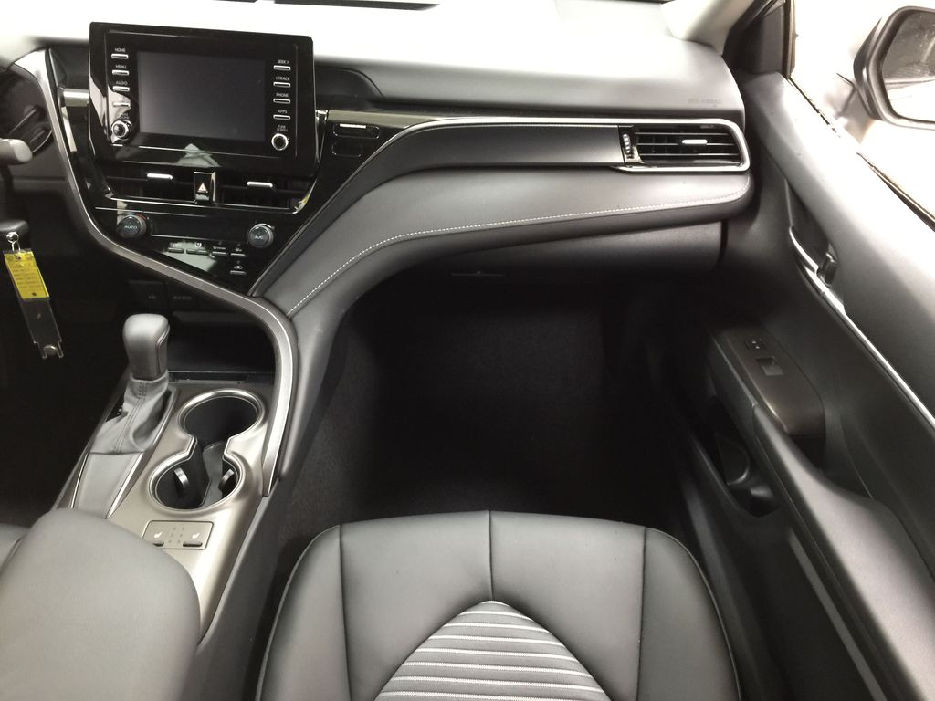 Silver[Celestial Silver Metallic] 2021 Toyota Camry SE FWD Right Front Seat Photo in Sherwood Park AB