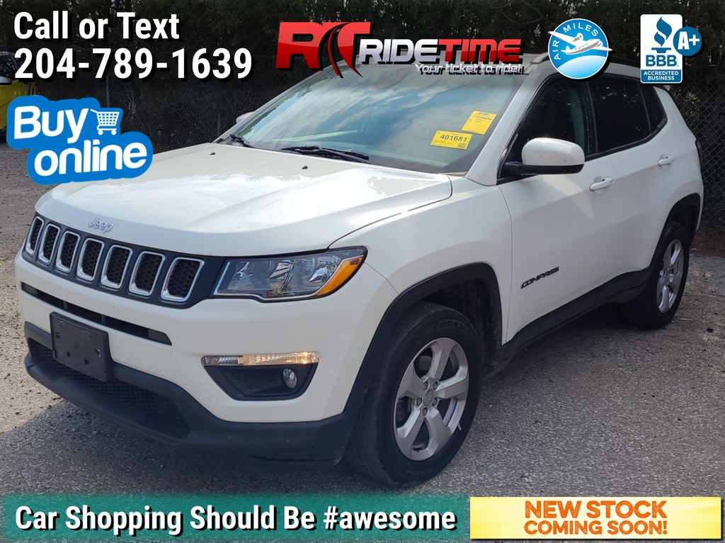White[White] 2018 Jeep Compass North 4WD - Uconnect w/ Bluetooth, SiriusXM