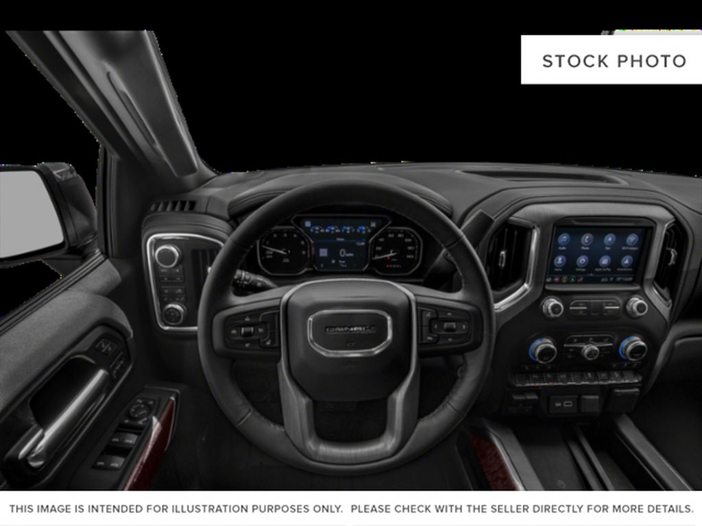 White[White Frost Tricoat] 2020 GMC Sierra 1500 Steering Wheel and Dash Photo in Fort Macleod AB