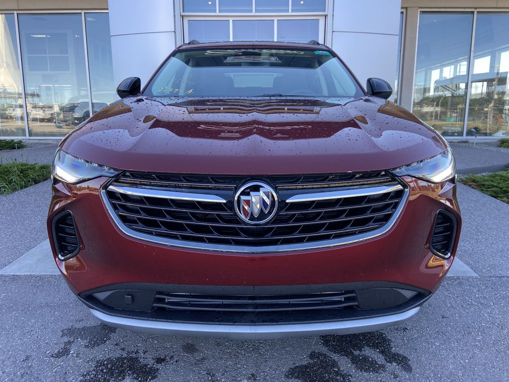 Red[Cinnabar Metallic] 2021 Buick Envision Essence Front Vehicle Photo in Calgary AB