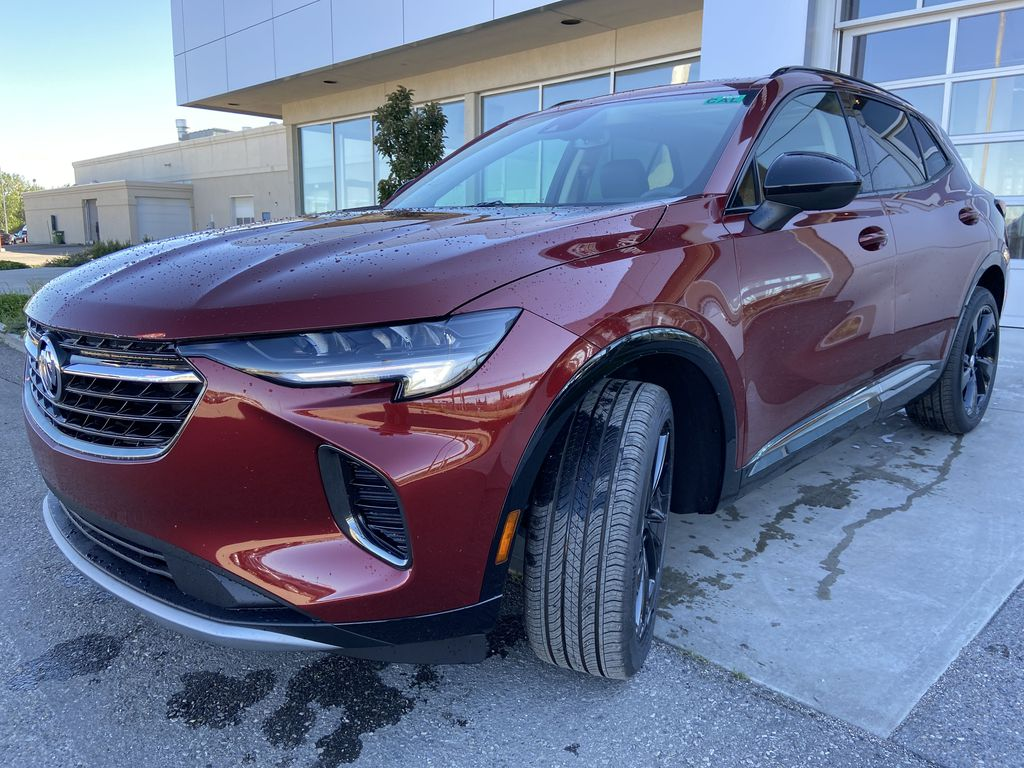 Red[Cinnabar Metallic] 2021 Buick Envision Essence Left Front Head Light / Bumper and Grill in Calgary AB
