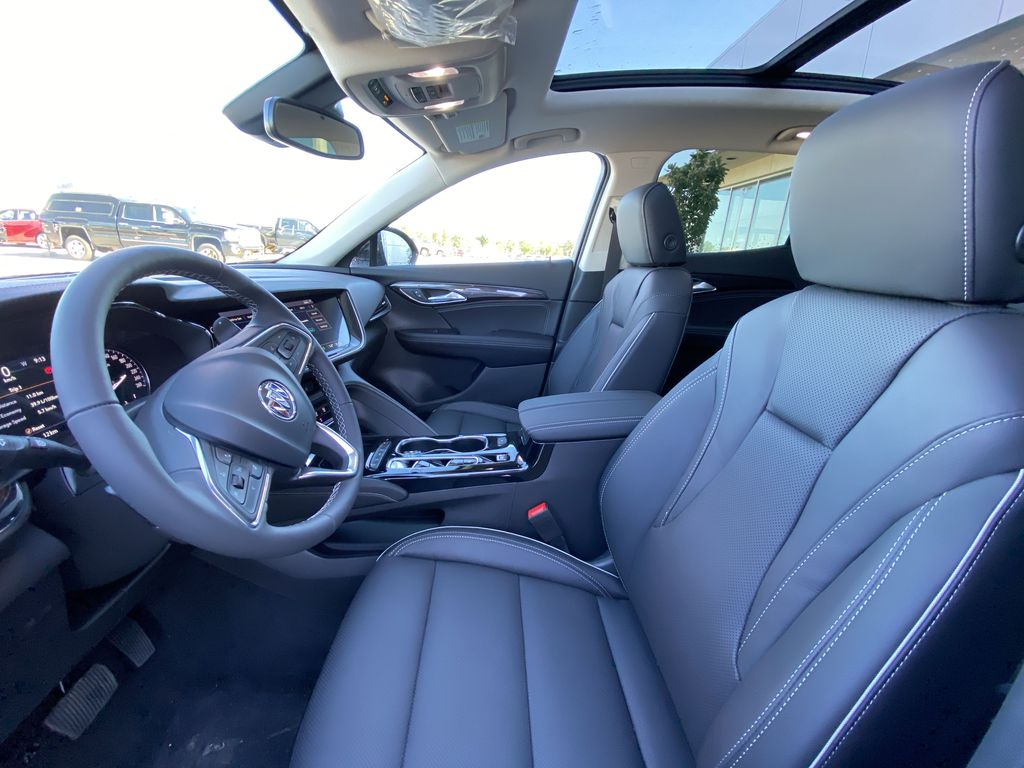 Red[Cinnabar Metallic] 2021 Buick Envision Essence Left Front Interior Photo in Calgary AB