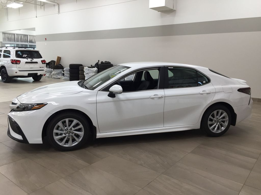 White[Super White] 2021 Toyota Camry SE FWD Left Side Photo in Sherwood Park AB