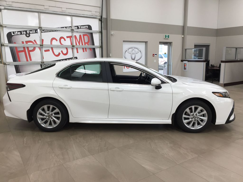 White[Super White] 2021 Toyota Camry SE FWD Right Side Photo in Sherwood Park AB