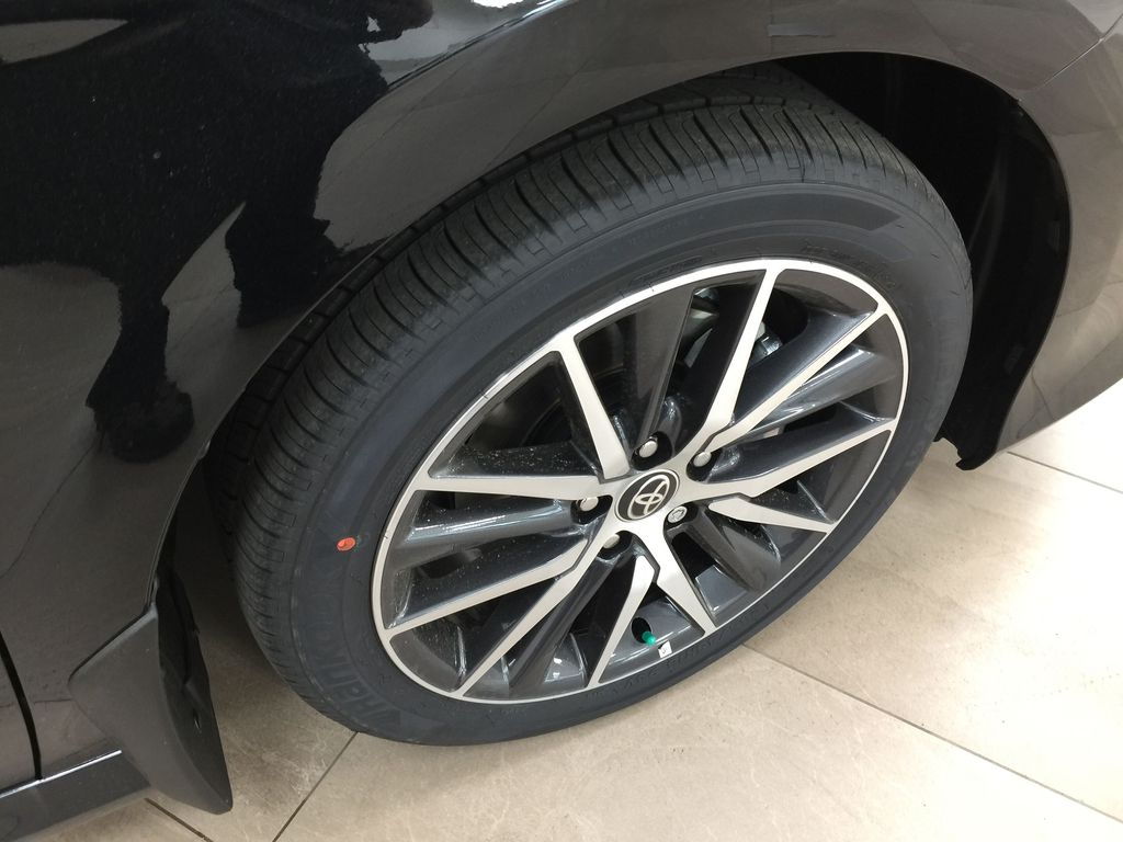 Black[Midnight Black Metallic] 2021 Toyota Camry Hybrid XLE Right Front Rim and Tire Photo in Sherwood Park AB