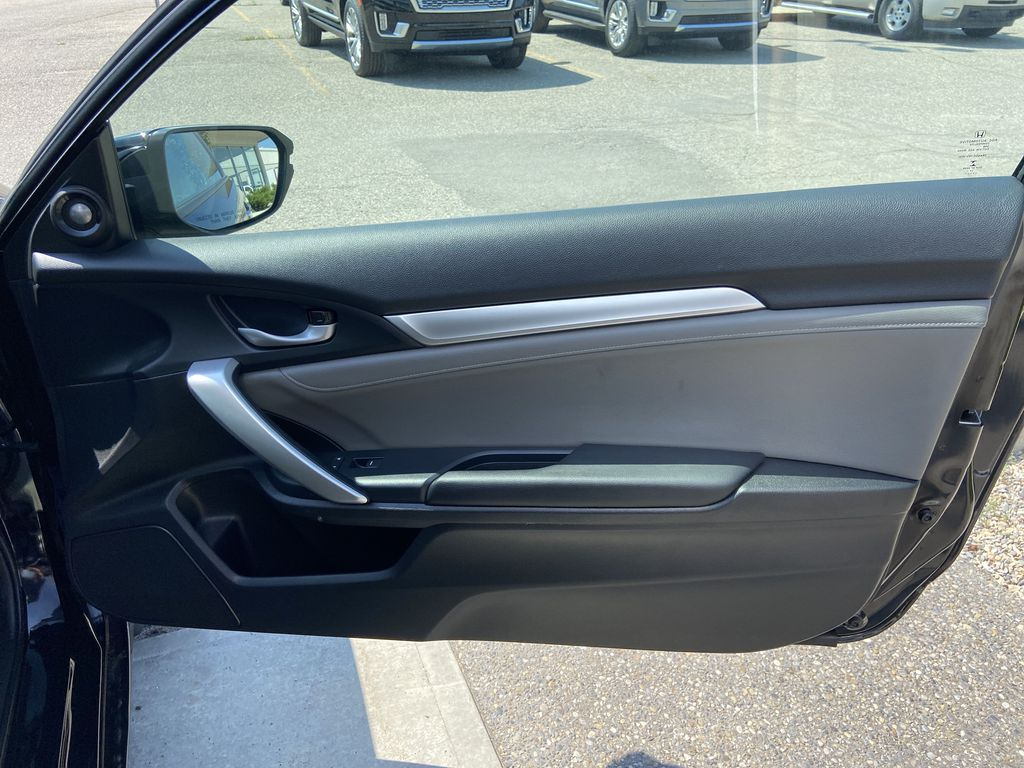 Black[Crystal Black Pearl] 2018 Honda Civic Coupe Touring Right Front Interior Door Panel Photo in Calgary AB
