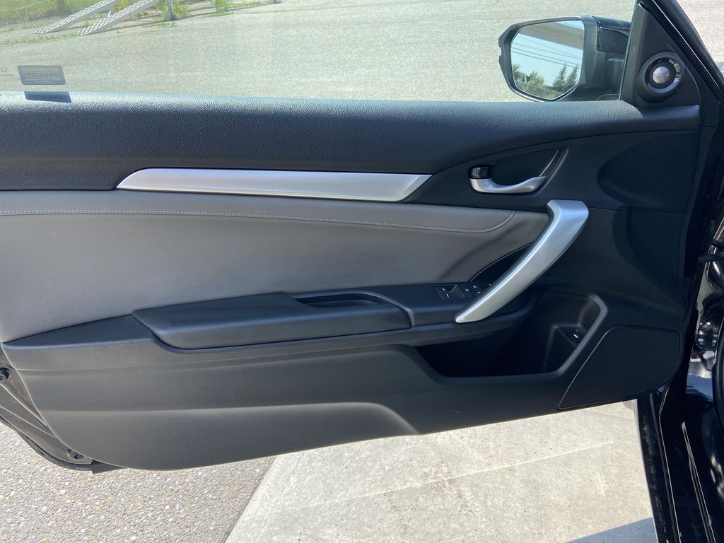 Black[Crystal Black Pearl] 2018 Honda Civic Coupe Touring Left Front Interior Door Panel Photo in Calgary AB