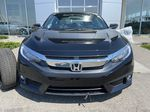 Black[Crystal Black Pearl] 2018 Honda Civic Coupe Touring Front Vehicle Photo in Calgary AB