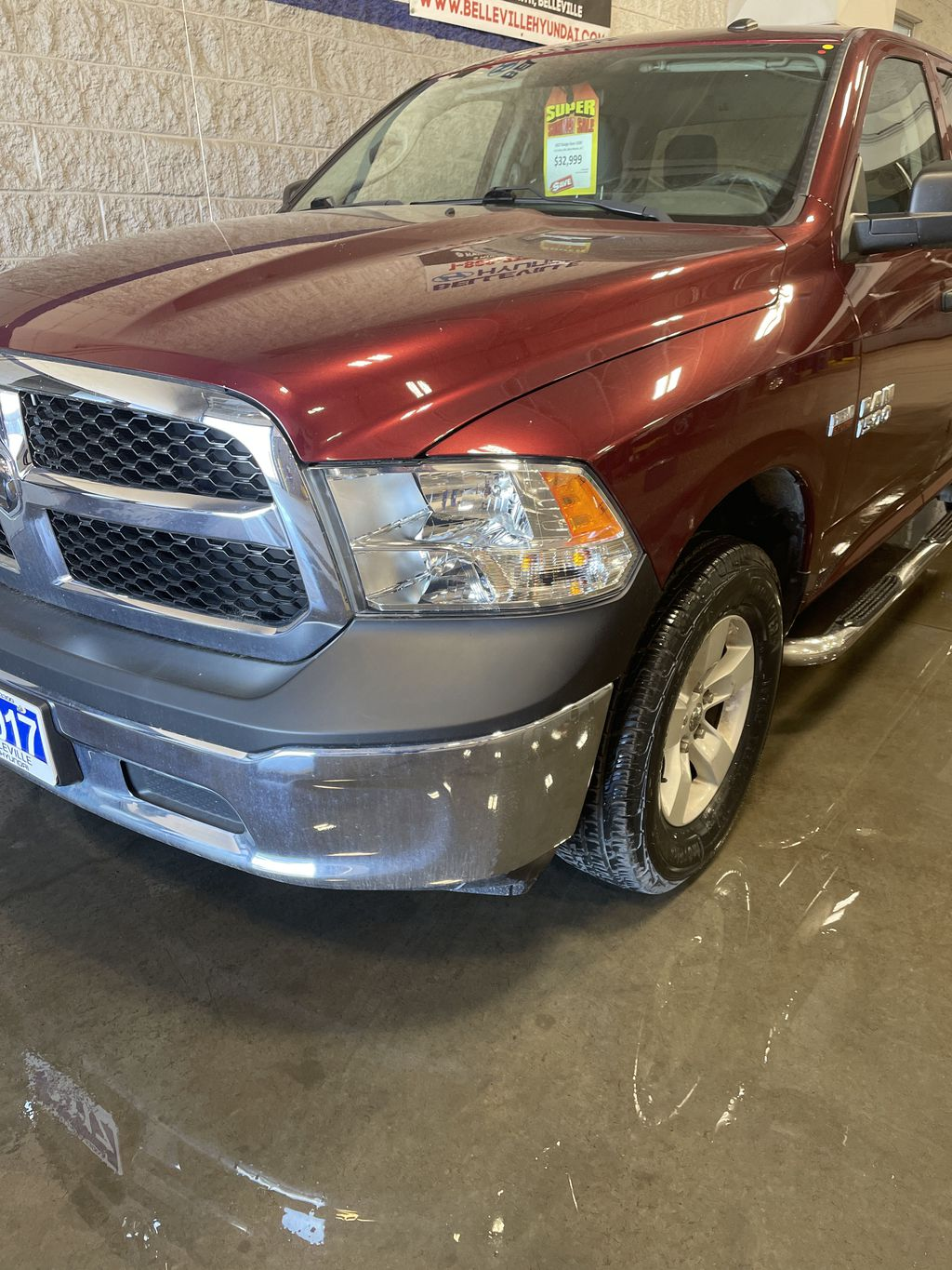 Red[Agriculture Red] 2017 Ram 1500 Left Front Rim and Tire Photo in Belleville ON