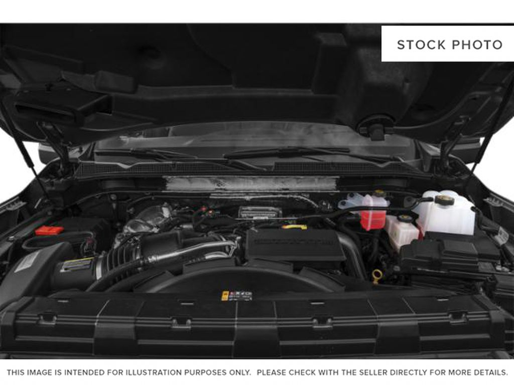 White[White Frost Tricoat] 2021 GMC Sierra 3500HD Denali Engine Compartment Photo in Calgary AB