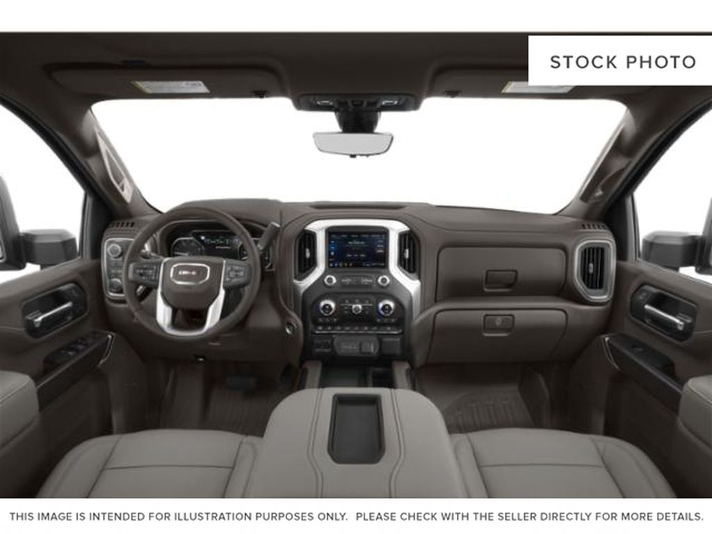 White[White Frost Tricoat] 2021 GMC Sierra 3500HD Denali Central Dash Options Photo in Calgary AB