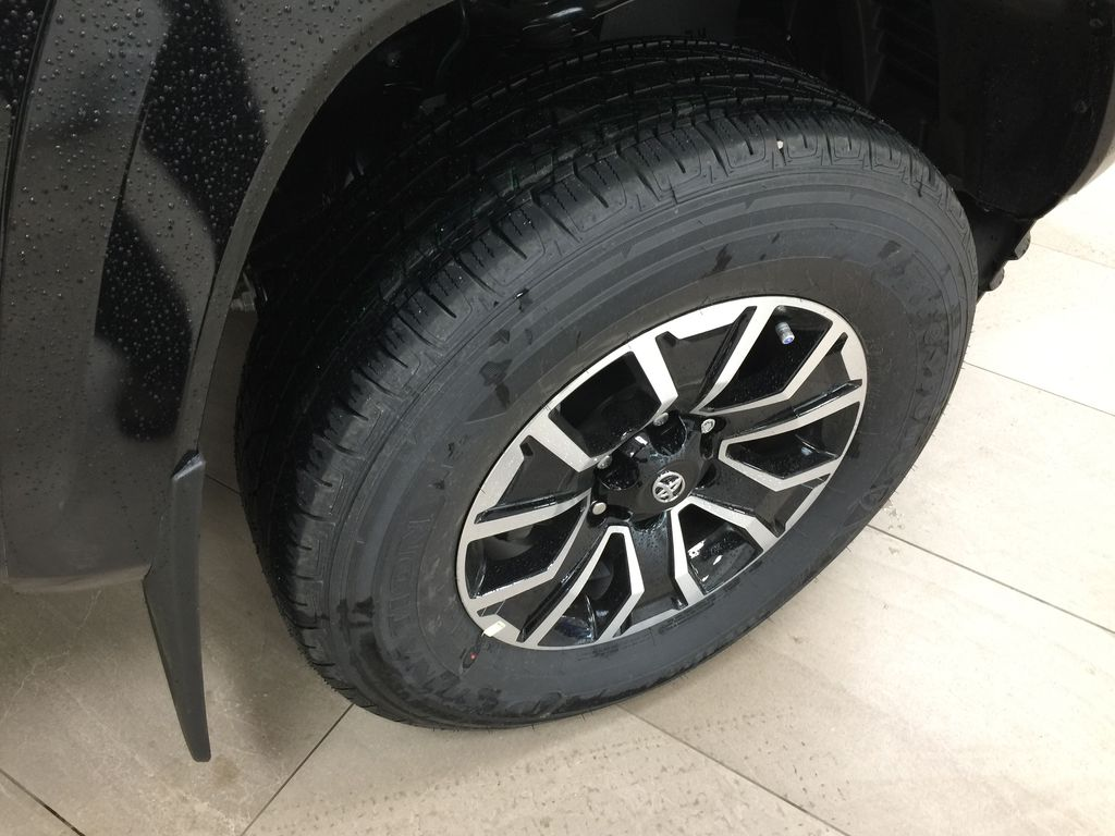 Black[Midnight Black Metallic] 2021 Toyota Tacoma TRD Sport Right Front Rim and Tire Photo in Sherwood Park AB