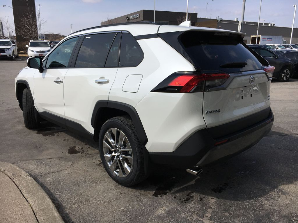 White[Blizzard Pearl] 2021 Toyota RAV4 AWD Limited Package D1RFVT AB Left Side Rear Seat  Photo in Brampton ON
