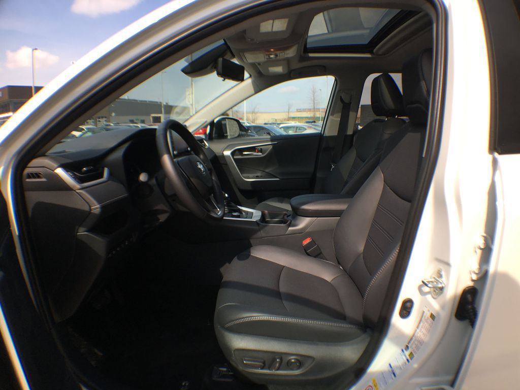 White[Blizzard Pearl] 2021 Toyota RAV4 AWD Limited Package D1RFVT AB Left Front Interior Door Panel Photo in Brampton ON