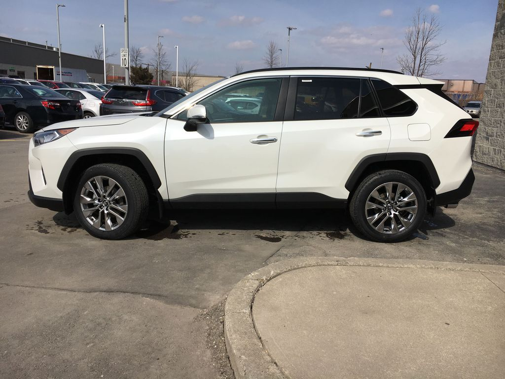 White[Blizzard Pearl] 2021 Toyota RAV4 AWD Limited Package D1RFVT AB Engine Compartment Photo in Brampton ON