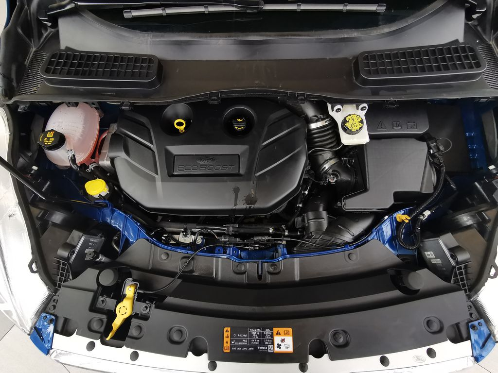 Blue[Lightning Blue] 2019 Ford Escape Engine Compartment Photo in Edmonton AB
