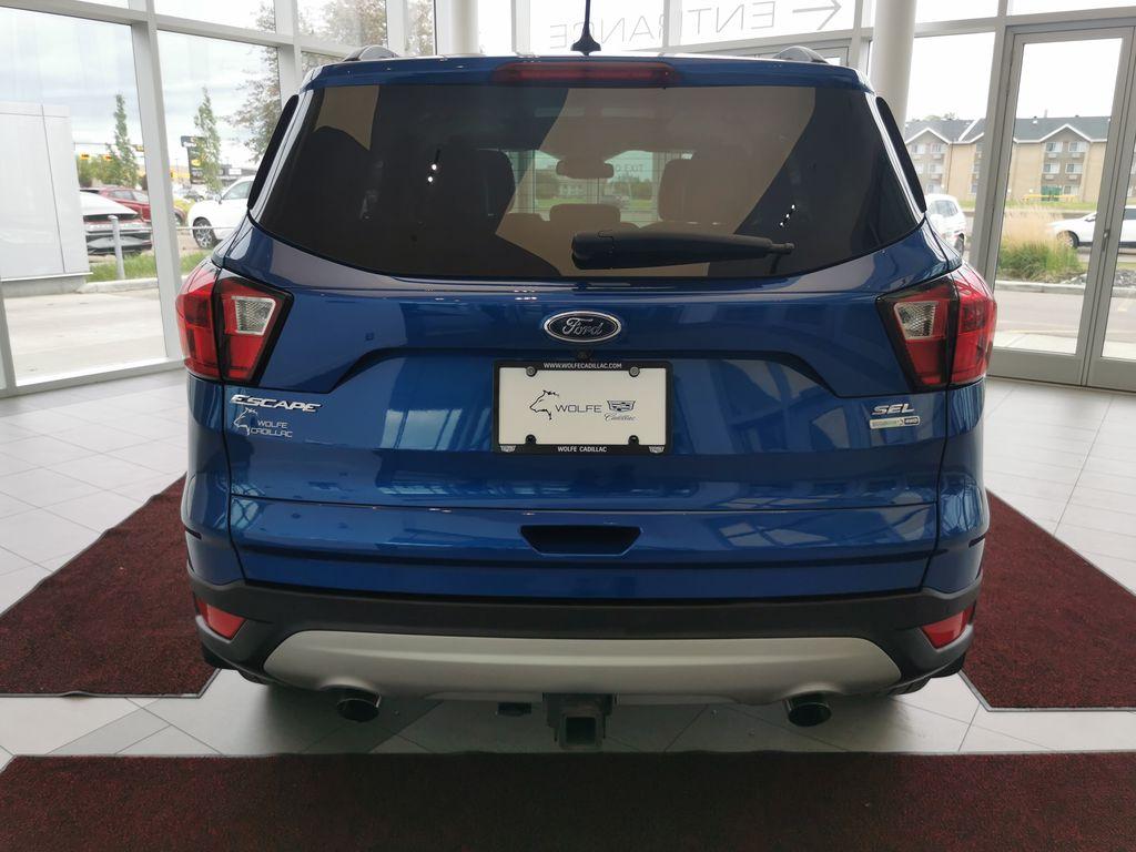 Blue[Lightning Blue] 2019 Ford Escape Rear of Vehicle Photo in Edmonton AB