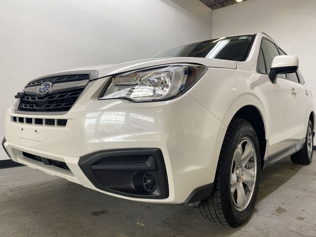 WHITE 2018 Subaru Forester 2.5i - Bluetooth, Remote Start, Backup Cam, Heated Seats, XM Left Front Head Light / Bumper and Grill in Edmonton AB