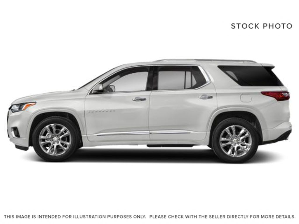 White[Iridescent Pearl Tricoat] 2019 Chevrolet Traverse Left Side Photo in Fort Macleod AB
