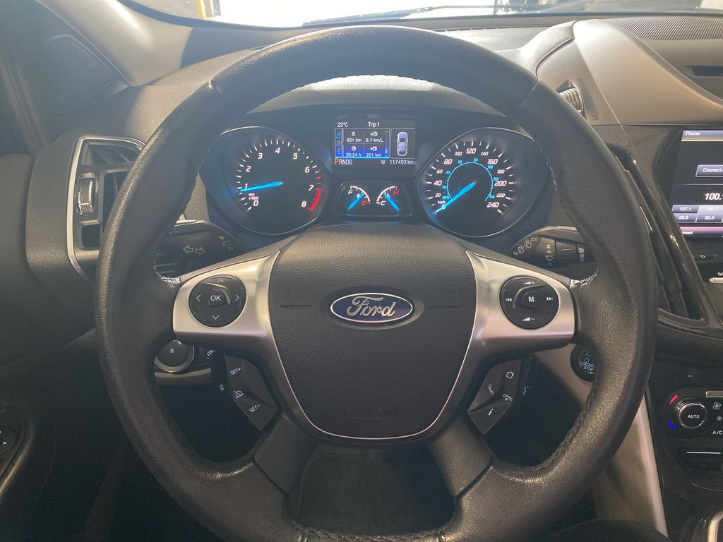 Silver[Ingot Silver Metallic] 2013 Ford Escape Steering Wheel and Dash Photo in Belleville ON