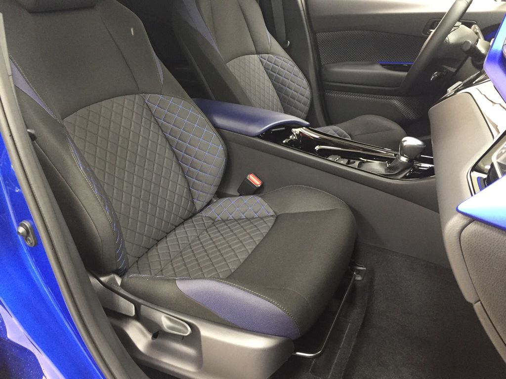 Blue[Blue Eclipse Metallic w/Black Roof] 2021 Toyota C-HR XLE Premium Right Side Front Seat  Photo in Sherwood Park AB