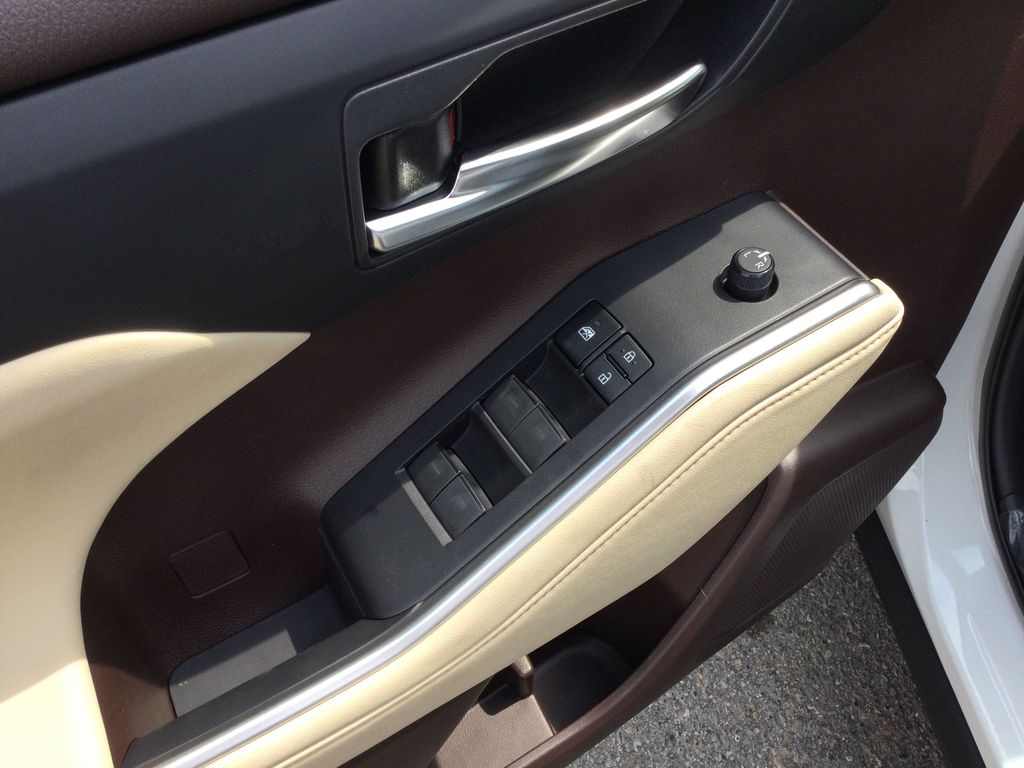 White[Blizzard Pearl] 2021 Toyota Highlander  Driver's Side Door Controls Photo in Brockville ON