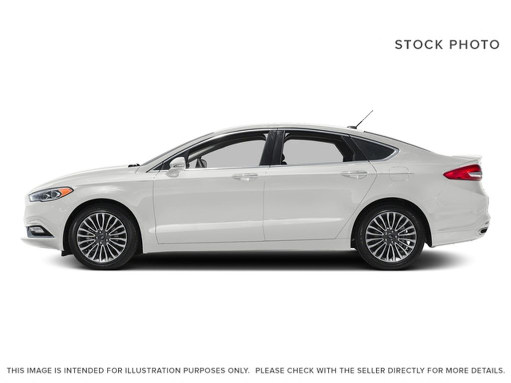 White[Oxford White] 2018 Ford Fusion Left Side Photo in Dartmouth NS