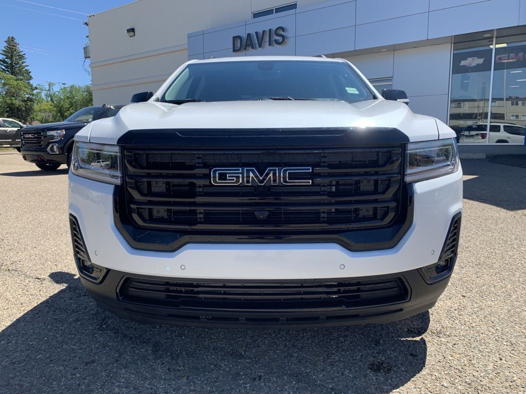 White 2021 GMC Acadia Left Front Head Light / Bumper and Grill in Brooks AB