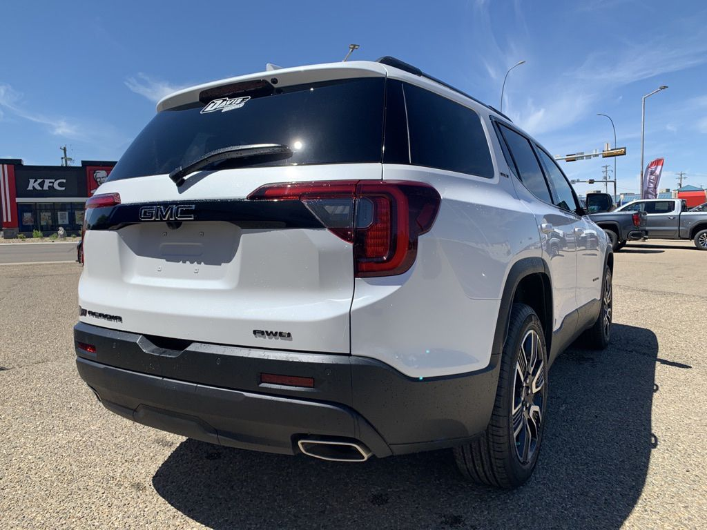 White 2021 GMC Acadia Driver's Side Door Controls Photo in Brooks AB