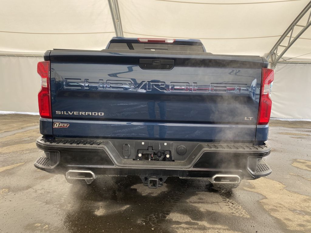 Blue 2021 Chevrolet Silverado 1500 Left Front Rim and Tire Photo in Airdrie AB