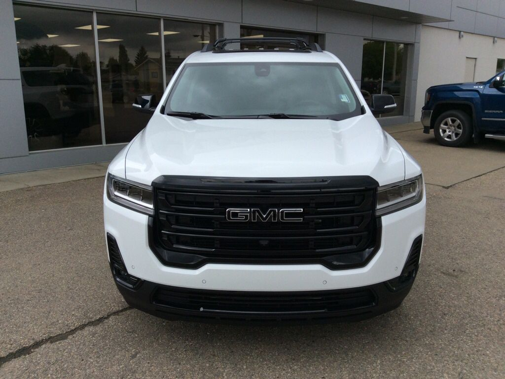 White 2021 GMC Acadia Left Front Head Light / Bumper and Grill in Westlock AB