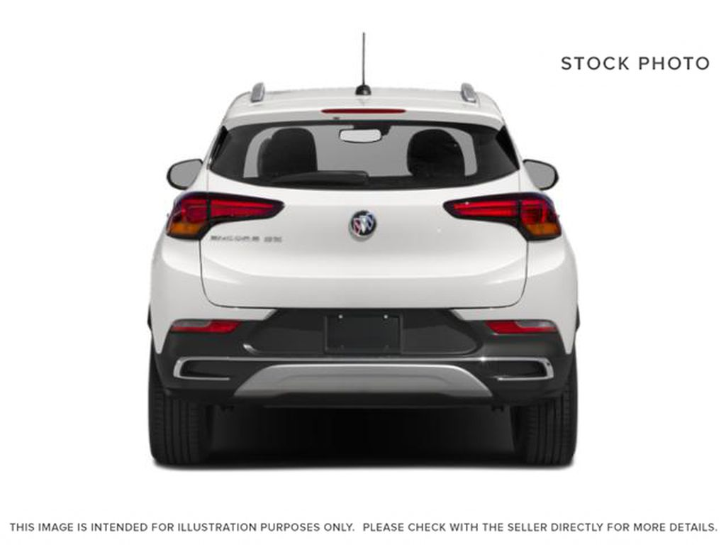 White Frost Tricoat 2021 Buick Encore GX Rear of Vehicle Photo in Oshawa ON