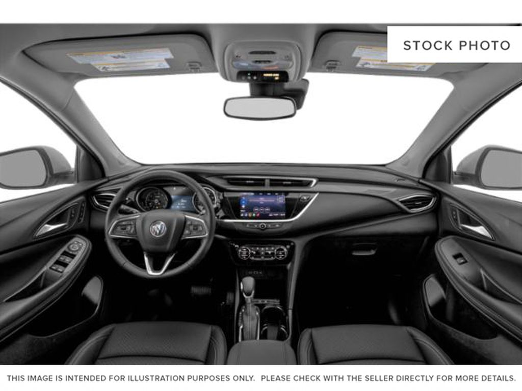 White Frost Tricoat 2021 Buick Encore GX Strng Wheel/Dash Photo: Frm Rear in Oshawa ON