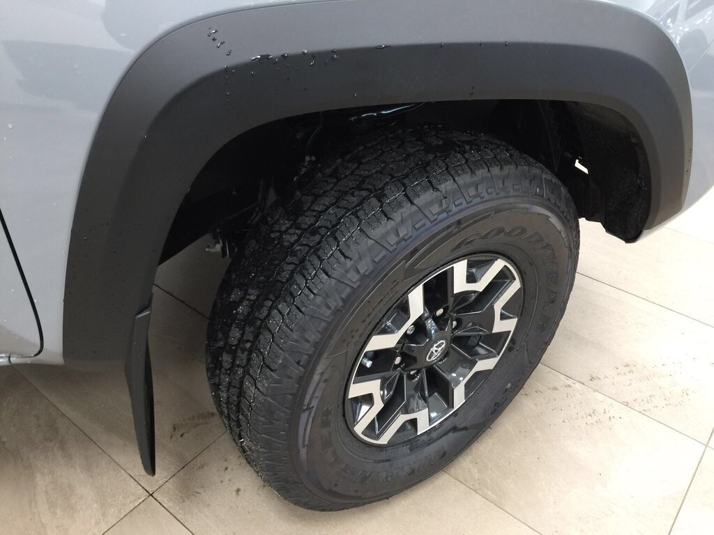 Gray[Cement Grey Metallic] 2021 Toyota Tacoma TRD Off-Road Premium Right Front Rim and Tire Photo in Sherwood Park AB