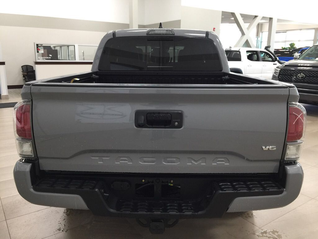 Gray[Cement Grey Metallic] 2021 Toyota Tacoma TRD Off-Road Premium Rear of Vehicle Photo in Sherwood Park AB