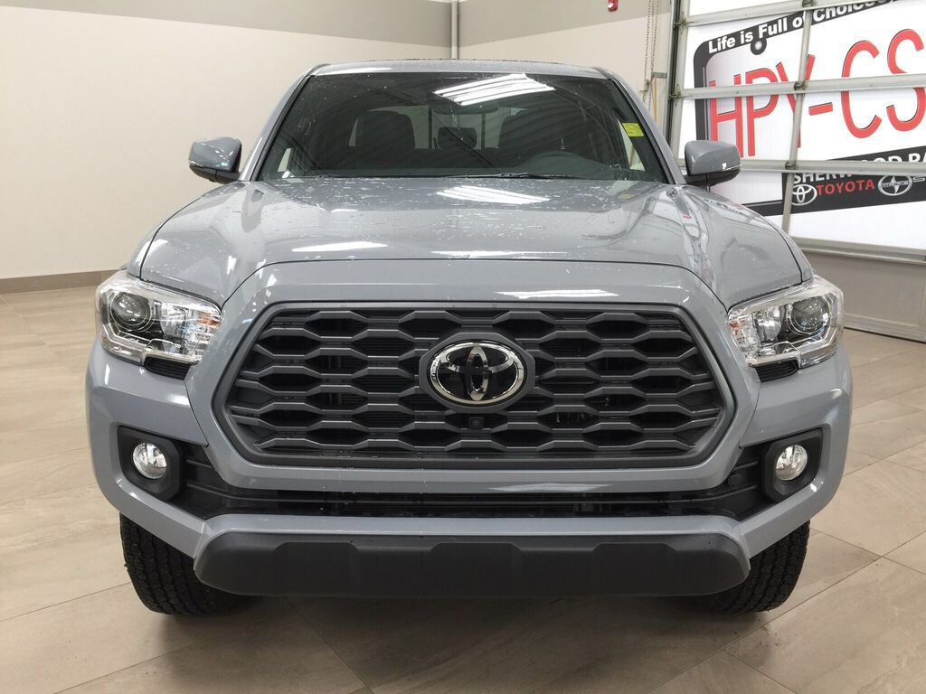 Gray[Cement Grey Metallic] 2021 Toyota Tacoma TRD Off-Road Premium Front Vehicle Photo in Sherwood Park AB