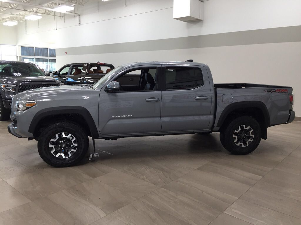 Gray[Cement Grey Metallic] 2021 Toyota Tacoma TRD Off-Road Premium Left Side Photo in Sherwood Park AB