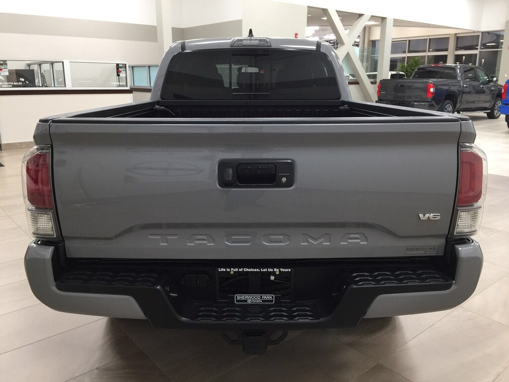 Gray[Cement] 2021 Toyota Tacoma TRD Sport Rear of Vehicle Photo in Sherwood Park AB