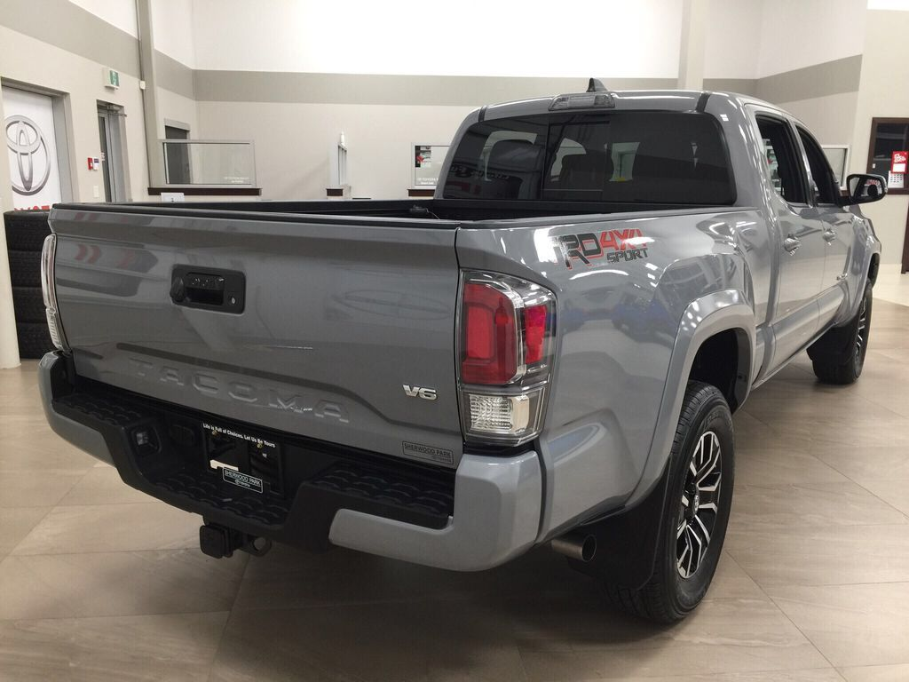 Gray[Cement] 2021 Toyota Tacoma TRD Sport Right Rear Corner Photo in Sherwood Park AB