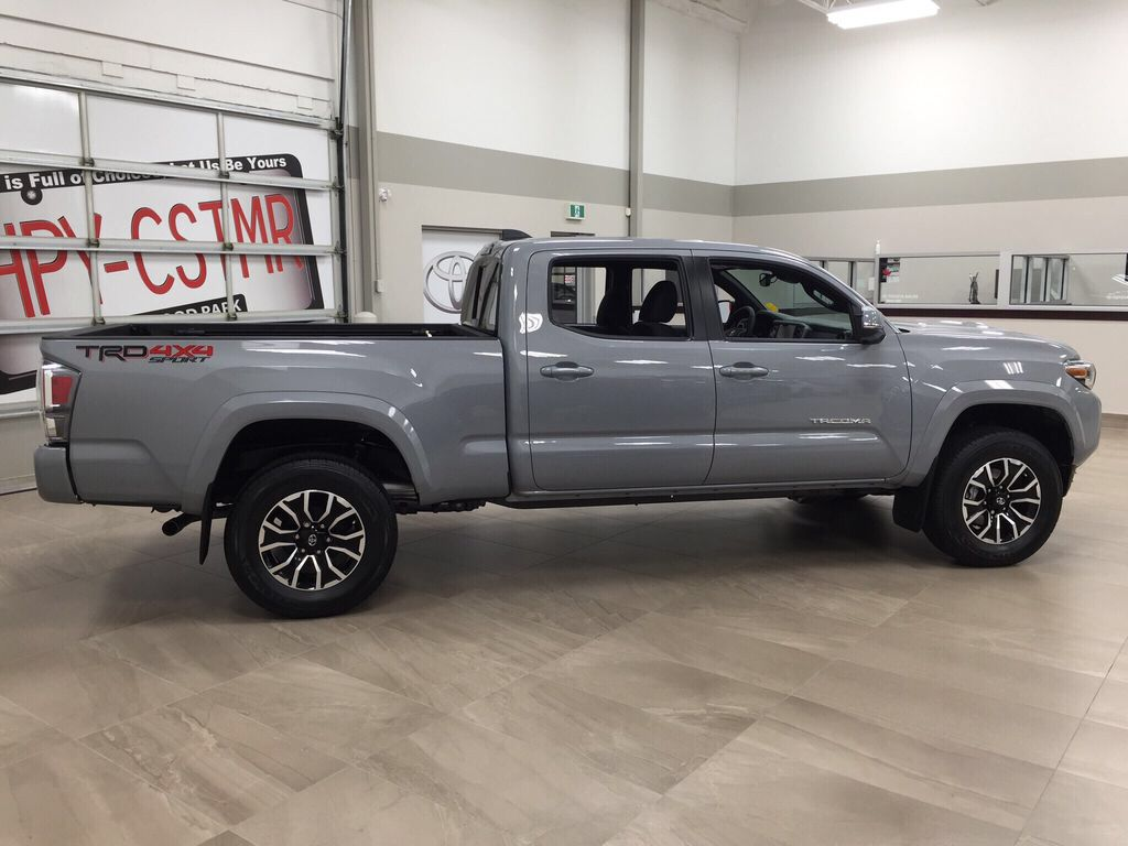 Gray[Cement] 2021 Toyota Tacoma TRD Sport Right Side Photo in Sherwood Park AB