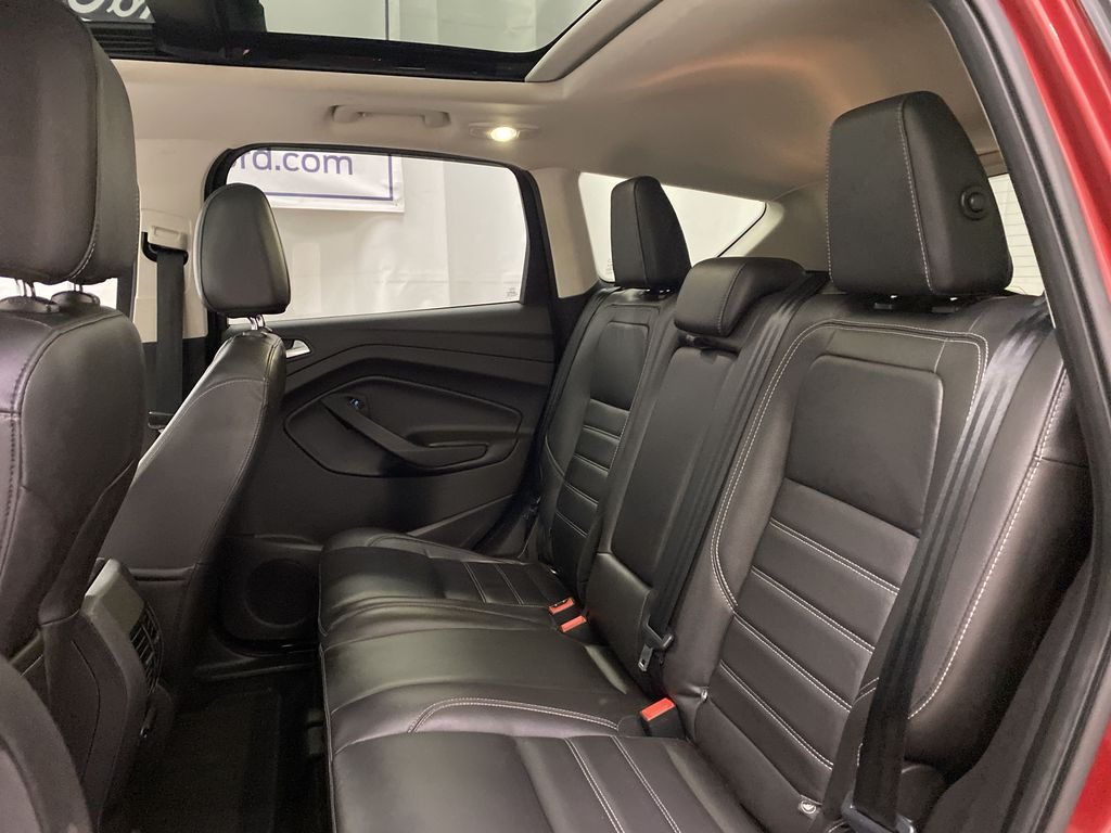 Red[Ruby Red Metallic Tinted Clearcoat] 2017 Ford Escape Left Side Rear Seat  Photo in Dartmouth NS